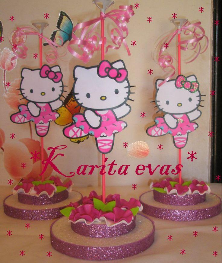 Arreglos de mesa dulceros buscar con google cotill n - Decoracion hello kitty ...