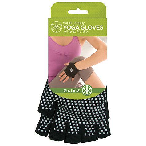 for Jane, size l or xl   Buy Gaiam Super Grippy Yoga Gloves Online at johnlewis.com