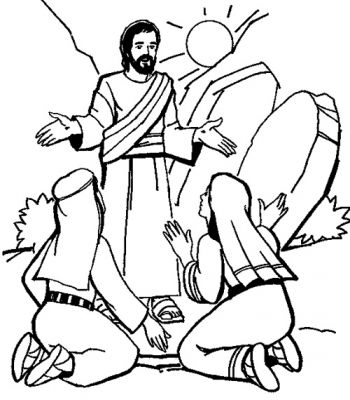 Resurrection of Jesus Coloring Page printables