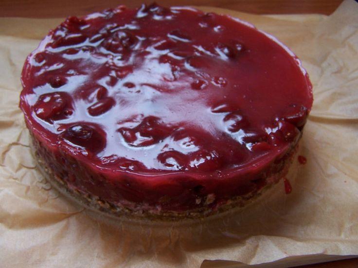 farkaselet: Nyers meggyes zselés sütemény (gluténmentes, cukor...