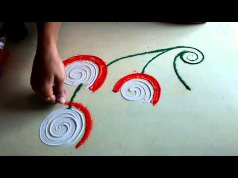 best rangoli design - YouTube