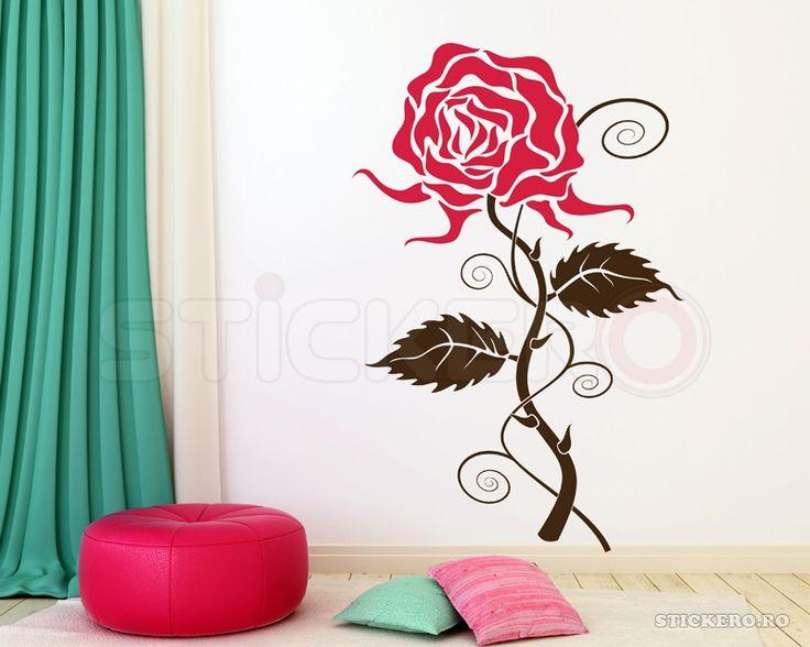 Sticker decorativ Trandafir