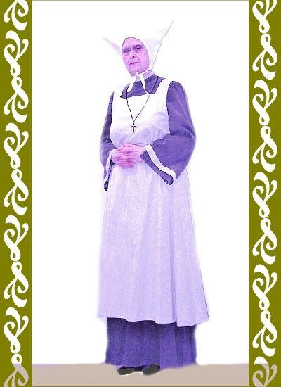 kostým jeptiška ošetřovatelka, maškarní kostým