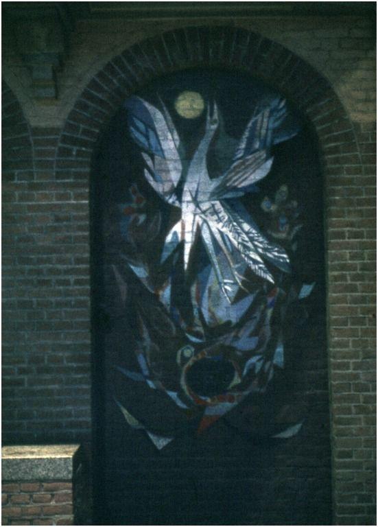 Een serie van 5 dia's betreffende muurschilderingen door Albert Troost, St. Gerardus Majella kerk, Gerardusplein 25  Auteur: RHCe : Hagens, G.L. - 1964 - 1988