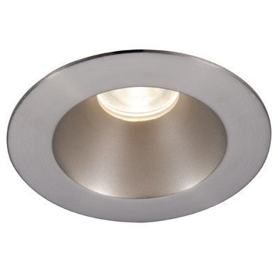 "WAC Lighting Downlight Shower Round 3.5"" LED Recessed Trim with 28 Degree Beam Angle Finish Color: White, Bulb: 3000K"