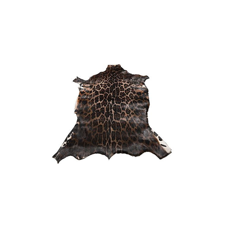 blesbok leopard animal hide rug by nsw leather co zanui