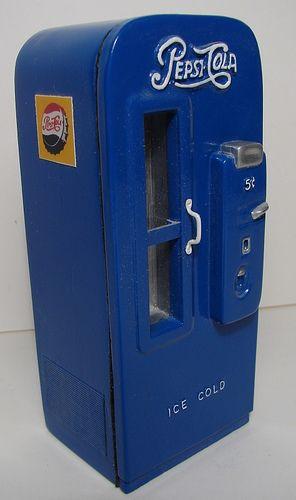 The Original Handcrafted 1:12 Scale Miniature Pepsi Machine
