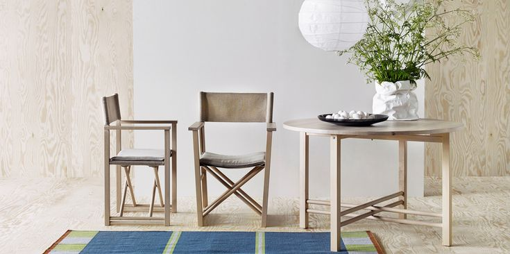 IKEA BJÖRKSNÄS director chair and table