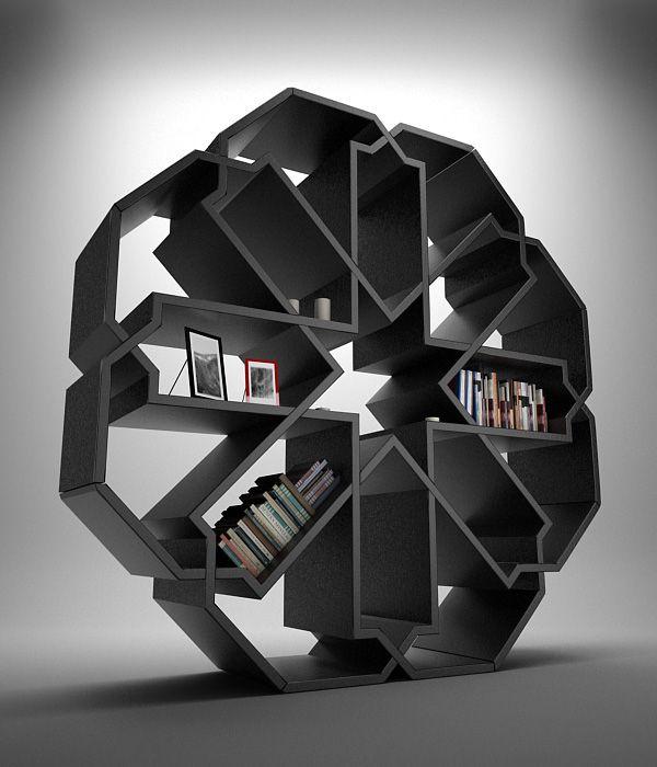 Zelli bookcase. Designed by Younes Duret.