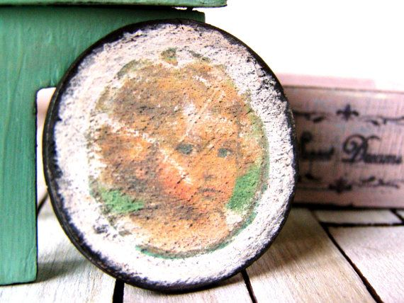 Shabby dollhouse picture dollhouse sign miniature by DewdropMinis