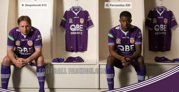 Perth Glory 2015 2016 Macron Purple Home Soccer Jersey
