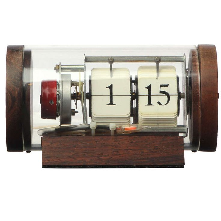 Modernist Cylinder Clock By Arthur Umanoff | From a unique collection of antique and modern clocks at http://www.1stdibs.com/furniture/more-furniture-collectibles/clocks/