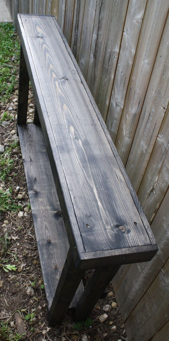 Unique primtiques black ebony stained 8 x60 x33 h 5 foot for 5 foot console table