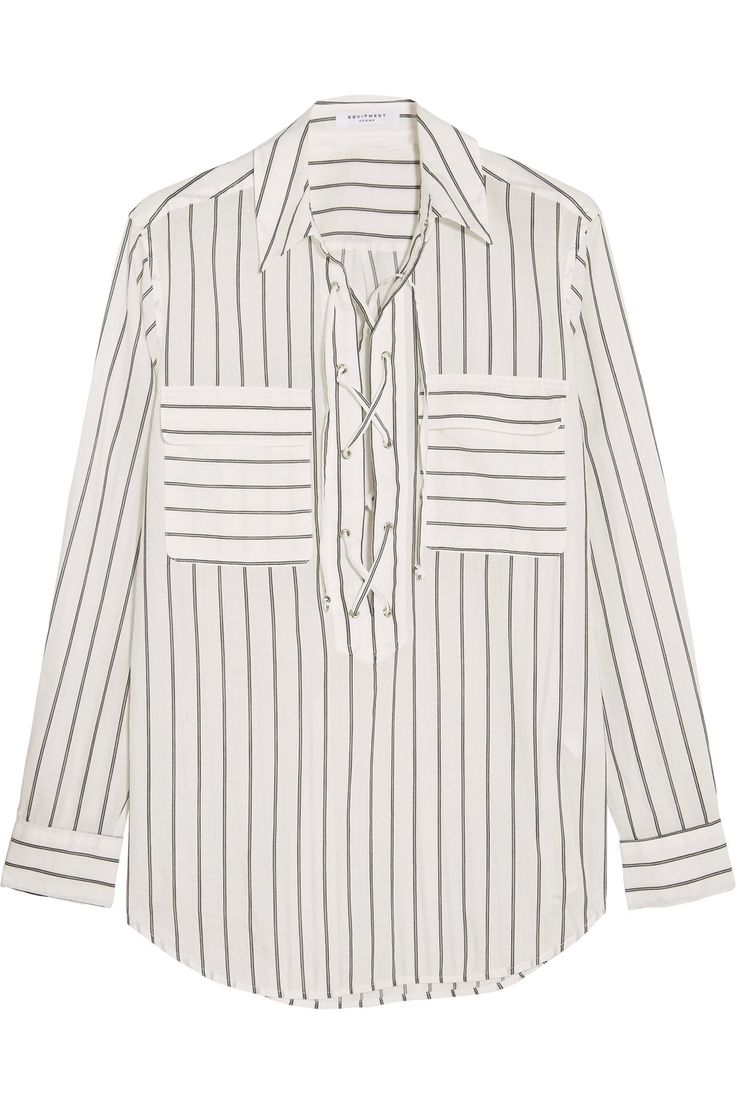 EQUIPMENT KNOX LACE-UP STRIPED COTTON SHIRT GBP96.25 http://www.theoutnet.com/product/961750