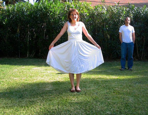 Homemade T-Shirt Wedding Dress