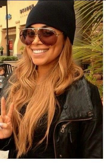 Lauren London blonde locks