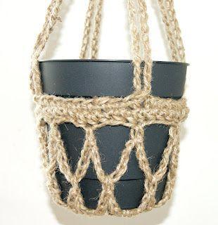 Crochet Hanging Pot Holder