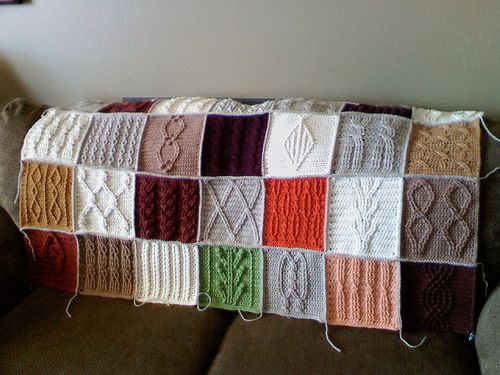 Progress on the Cable Crochet Sampler | Progress on the Cabl… | Flickr