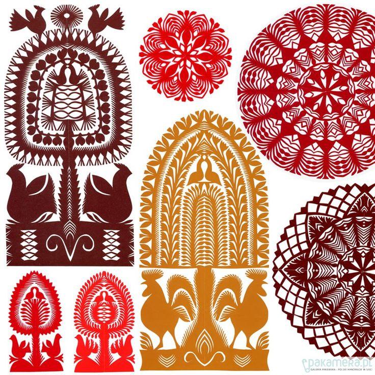 Pakamera.pl - na ścianę - Classic Kurpie Art Papercuts_Collage