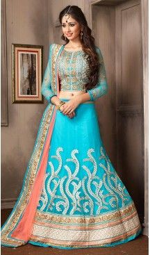 Sky Blue Color Net A Line Style Party Wear Lehenga Choli | FH479574049 #heenastyle, #designer, #lehengas, #choli, #collection, #women, #online, #wedding , #Bollywood, #stylish, #indian, #party, #ghagra, #casual, #sangeet, #mehendi, #navratri, #fashion, #boutique, #mode, #henna, #wedding, #fashion-week, #ceremony, #receptions, #ring , #dupatta , #chunni , @heenastyle , #Circular , #engagement