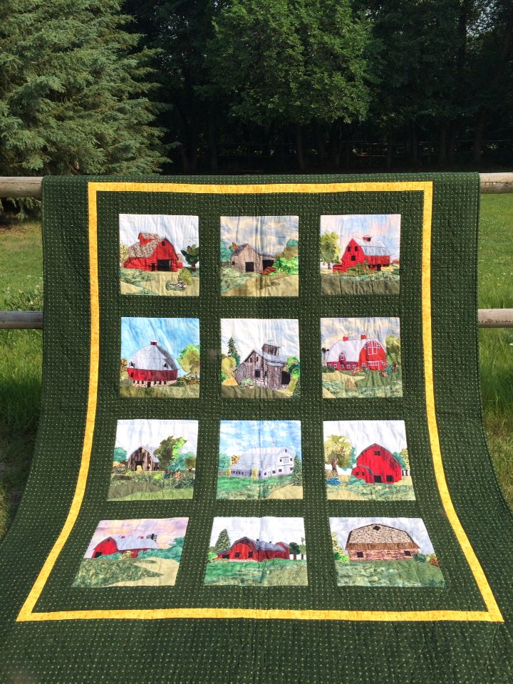 Barn Quilt handmade appliqué