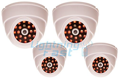 Special Offers - Dummy Security Camera  Imitation Infrared Night Vision  Low Cost & Keeps Intruders Away  2 Year Guarantee  4 Units - In stock & Free Shipping. You can save more money! Check It (July 03 2016 at 07:24PM) >> http://motionsensorusa.net/dummy-security-camera-imitation-infrared-night-vision-low-cost-keeps-intruders-away-2-year-guarantee-4-units/