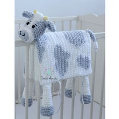 Cuddle and Play Cow Baby Blanket Crochet Pattern Tina Dailey