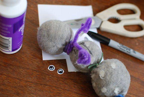 Toddler Talk: Sock Caterpillar: An adorable DIY stuffed animal