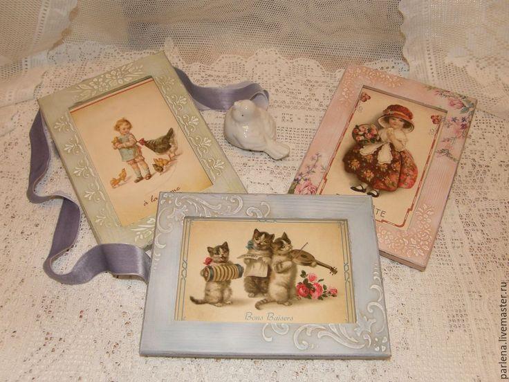 """Купить Комплект рамок для фото """"Нежность"""" - мятный, рамка, рамка для фото, рамка для фотографии"""