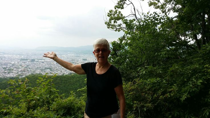 And this is the view of Kyoto at the halfway mark.