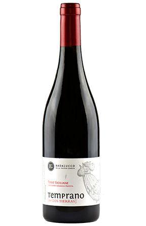 """Temprano del Dos Tierras. Azienda Agricola Badalucco.Come per il Dos Tierras, anche qui un blend di Nero d'Avola e Tempranillo, ma questa volta in percentuali più sbilanciate sull'uva siciliana (80% Nero d'Avola e 20% Tempranillo) per un vino più """"tradizionale""""..."""