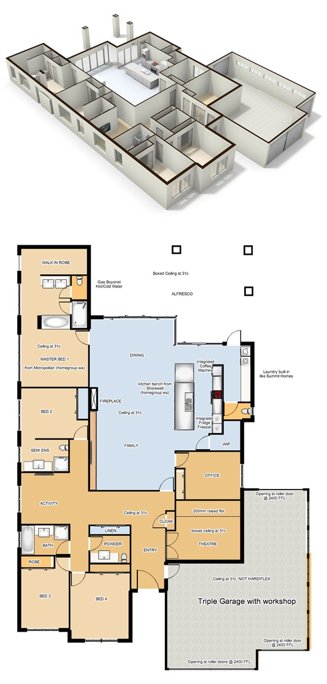 127 best cool floorplans images on pinterest house floor for Best floor plan ever