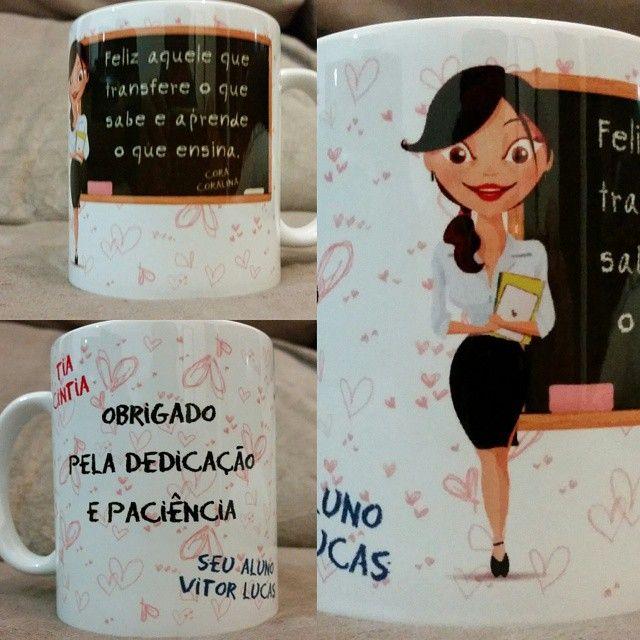 Homenagem linda feita pelo cliente Vitor Lucas para a professora Cíntia.