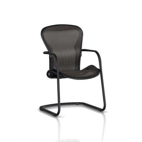 Fauteuil Visiteur Aeron Side Chair Herman Miller Graphite / Classic Carbon