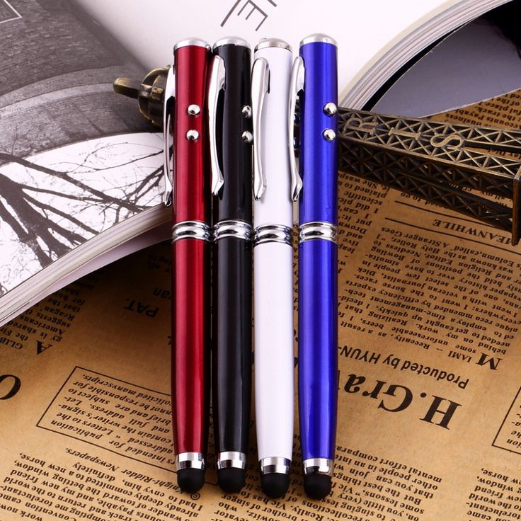 Compatible 4in1 LED Laser Pointer Torch Touch Screen Stylus Ballpoint Pen for iPhone for Ipad for Samsung