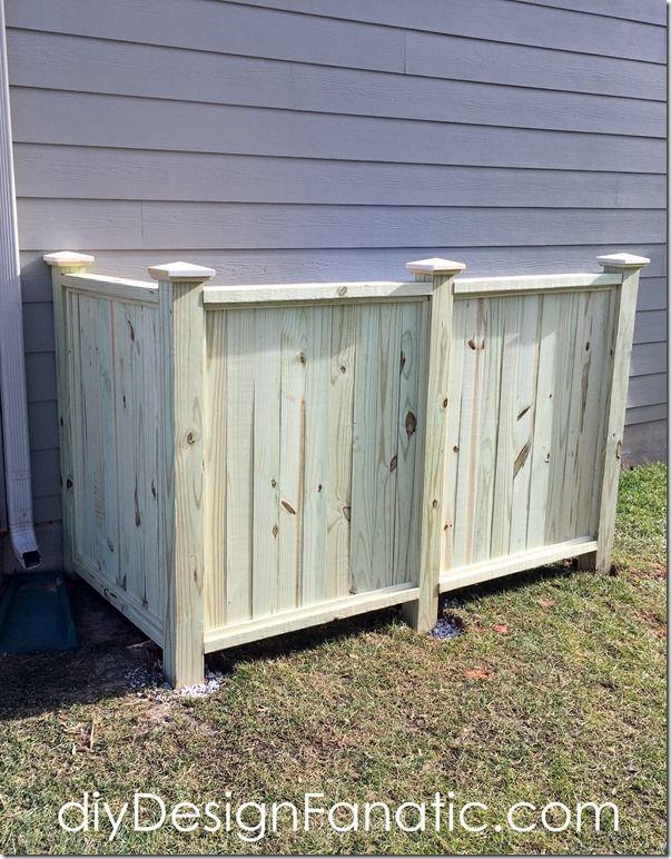 How To Build A Trash Recycle Bin Screen Outdoor Trash Cans Trash Can Storage Outdoor Trash And Recycling Bin