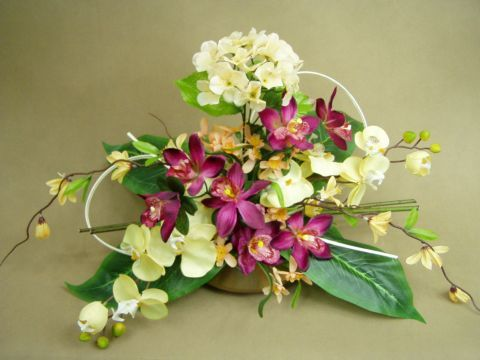 NA GRÓB 1030 sztuczne HORTENSJE STORCZYK orchidea - 3413658096 - oficjalne archiwum allegro