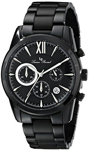 Men's Wrist Watches - Lucien Piccard Mens LP12356BB11SA Mulhacen Black Stainless Steel Watch >>> Continue to the product at the image link.