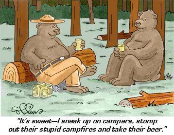 If you find your beer gone in the morning, you might have forgot to stomp out your campfire.  www.normsrv.com: Fun Stuff, Funny Stuff, Funny Photos, Morning, Campfire, Beer 30, Bad Smokey