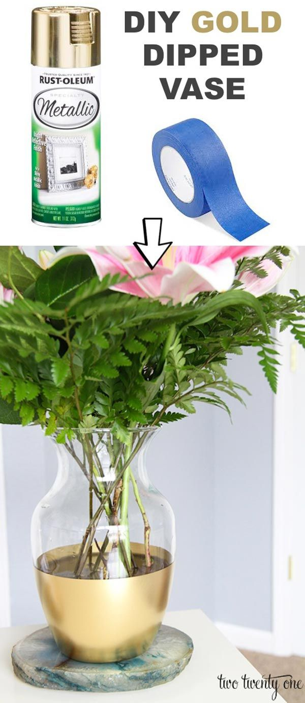 Update a boring vase into modernistic home decoration with just spray paint.