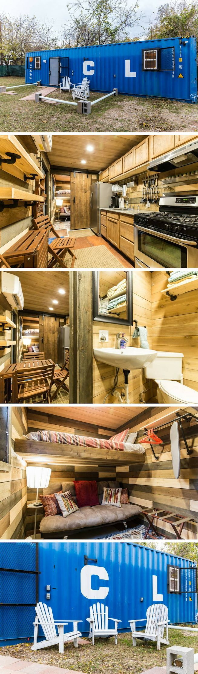 BLUE STEEL TINY CONTAINER HOME
