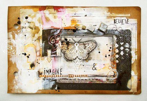 Frugal Friday: Take 2! Gorgeous art journal by Kasia Krzyminska for Prima!