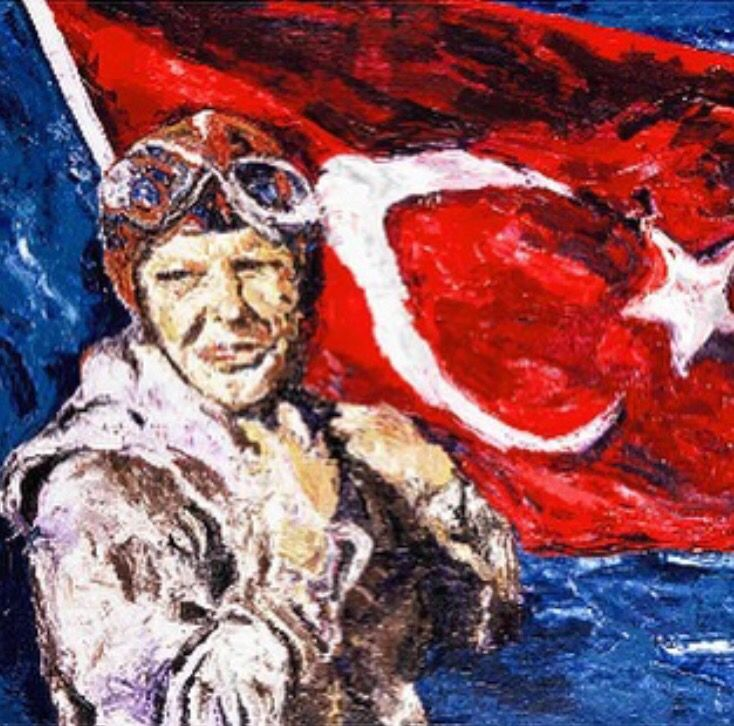 Sabiha Gokcen tablo #nedpamphilon #ataturk #istanbul1881