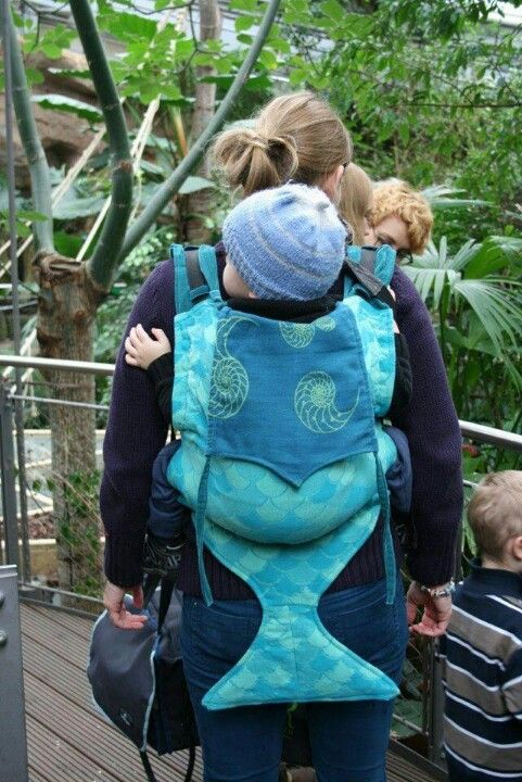 Mermaid baby carrier. Can't find for sale so i think ill get a reg front carry one and turn it into this. An octopus would be cute too