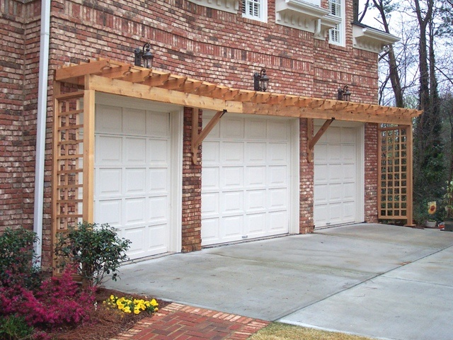 Pergola over garage designed and built by Georgia Front Porch (view #2). - 29 Best Pergolas Over Garage Images On Pinterest Garage Trellis