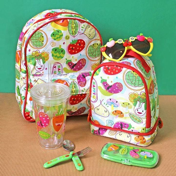 Kids will love the fruit and veg on these jazzy accessories from Paperchase!