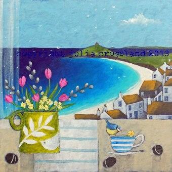 Encore une jolie peinture de Julia Crossland! The Friends Of Studio 61 Blog: May Exhibition Artists Interview With Julia Crossland