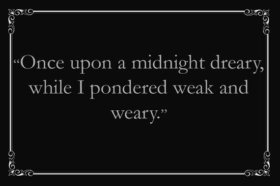 from The Raven by Edgar Allen #Poe #Etsy
