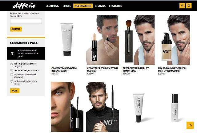 https://www.differio.com/accessories/mens-makeup.html/ | Largest Store for Makeup for Men. Shop Men's Makeup on Differio - Differio urban streetwear has the largest collection of Makeup for men products. Professional grooming and cosmetic products for men. Browse our professional men makeup collection of foundation for men, manscara, concealer for men, guyliner, and much more.