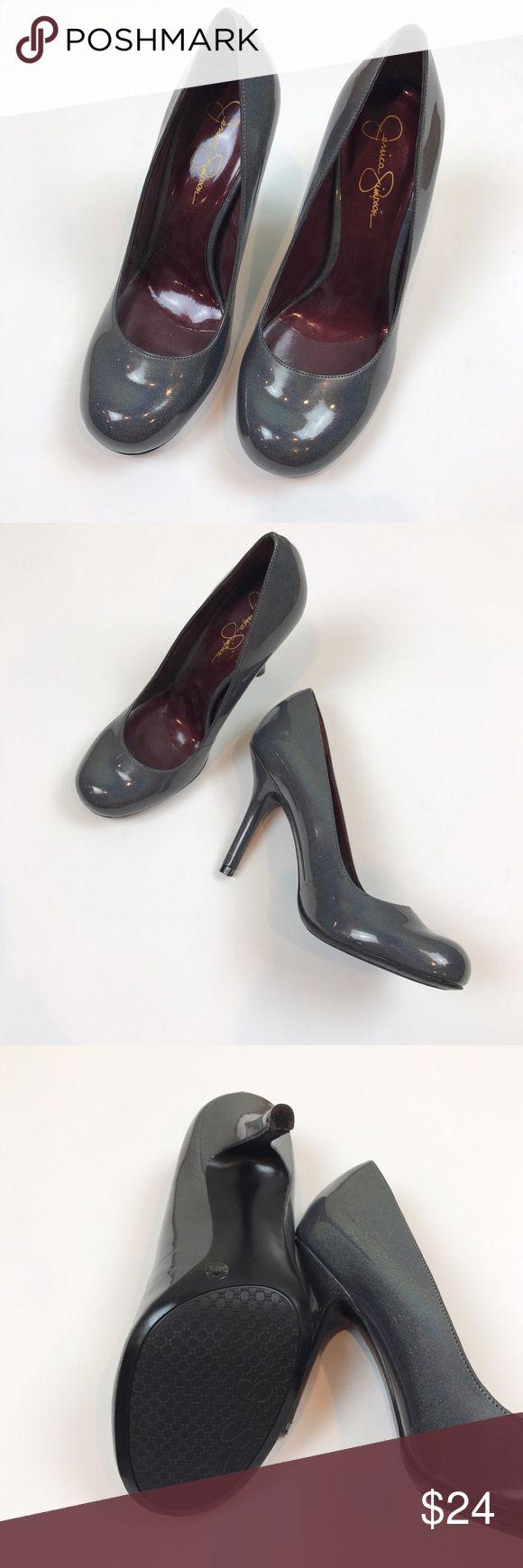 Jessica Simpson NWOT gray sparkle heels size 7.5 Jessica Simpson NWOT gray sparkle patent heels size 7.5. Heel is 4inches. Jessica Simpson Shoes Heels